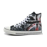 CONVERSE British Flag All Star Union Jack Flag Black Red Athletic Shoes Discount