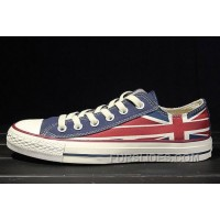 Red Blue CONVERSE Rock Union Jack British Flag Chuck Taylor All Star Canvas Sneakers Top Deals