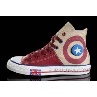 Harper Beckham CONVERSE UK Flag Wine Red Beige Tonal Stitching Canvas Free Shipping