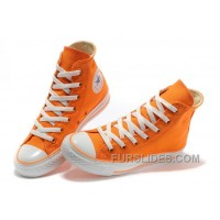 CONVERSE New Color Orange Dazzling Chuck Taylor All Star Canvas Women Sneakers For Sale