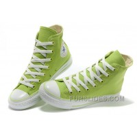 Fresh CONVERSE New Color Dazzling Light Green Chuck Taylor All Star Canvas Women Sneakers Online