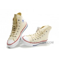 Beige CONVERSE Chuck Taylor All Star Unbleached White Canvas Shoes Super Deals