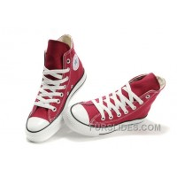 CONVERSE Chuck Taylor All Star Maroon Canvas Shoes For Sale