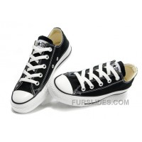 Black CONVERSE Chuck Taylor All Star Lo Top Canvas Shoes Discount