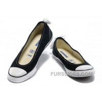Black CONVERSE Summer Collection All Star Light Dainty Ballerina Ballet Flat Canvas Ladies Shoes Discount