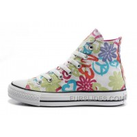 Womens CONVERSE All Star Peace And Love White Canvas Shoes Discount