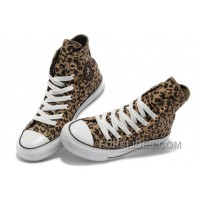 Leopard CONVERSE Women Brown Chuck Taylor All Star Canvas Shoes For Sale