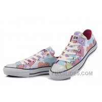 CONVERSE Women Hearts Colorful Print White Canvas Sneakers Top Deals