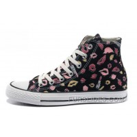 New Chuck Taylor All Star Coco Black CONVERSE Womens Lipstick Lips Print Canvas Authentic