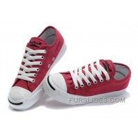 Red CONVERSE Jack Purcell Overseas Canvas Shoes Authentic