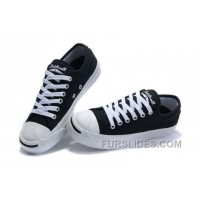Black CONVERSE Jack Purcell Canvas Shoes Free Shipping