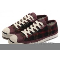 CONVERSE Jack Purcell Scotland Plaid Canvas Leather Authentic