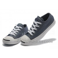 Blue CONVERSE Jack Purcell Vintage Washed Canvas Shoes Cheap To Buy