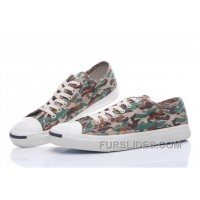 CONVERSE Jack Purcell Profile Camo Slip Army Green Canvas Low New Release