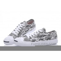 Grey CONVERSE Jack Purcell Profile Camo Slip Canvas Low Discount