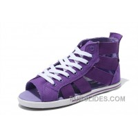 All Star CONVERSE Purple Open Toe Gore Summer Women Roman Sandals Discount
