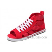 Red CONVERSE Open Toe Elastic Band Summer All Star Roman Sandals New Release