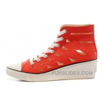 Red CONVERSE All Star Women Mermaid Wedge Heel Chuck Taylor Sandals Cheap To Buy