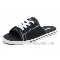 Black CONVERSE All Star Light Slippers Summer Collection By Avril Lavigne Canvas For Sale