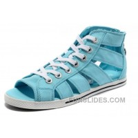 Sky Blue All Star CONVERSE Roman Shoes By Avril Lavigne Canvas For Sale