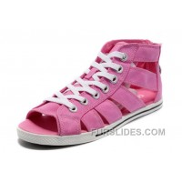 Pink CONVERSE All Star Roman Shoes By Avril Lavigne Canvas Free Shipping