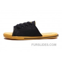 CONVERSE Summer Cutaway EVO Chuck Taylor All Star Slippers Black Yellow For Sale
