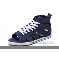 Blue All Star CONVERSE Open Toe Gore Roman Sandals Summer Elastic Band Top Deals