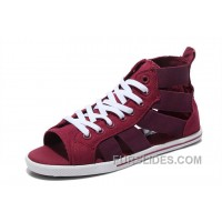 CONVERSE Open Toe Elastic Band Gore Wine Red All Star Roman Sandals Super Deals