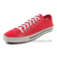Red CONVERSE Summer Collection Mesh Style Chuckout All Star Tops Casual Shoes Lastest