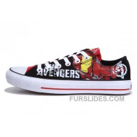 Iron Man CONVERSE Printed The Avengers Comics Black Red Shoes New Release