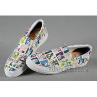 All Star Slip On CONVERSE White Batman Joker Comics Print Canvas Trainers Super Deals