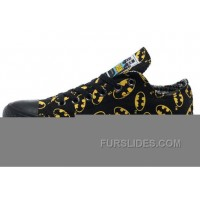 CONVERSE Batman Black And Yellow Symbol Printed Canvas New Release