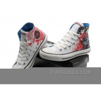 White All Star CONVERSE Superman Graffiti Painting Canvas Trainer Discount