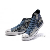 Blue CONVERSE Superman Printed DC Heroes All Star Canvas Shoes For Sale