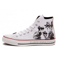 X CONVERSE X Gorillaz White Chuck Taylor All Star High Tops Lastest
