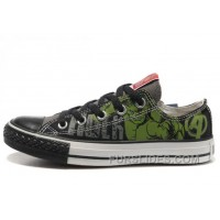 Hulk Shoes CONVERSE Black Green The Avengers Chucks Taylor Ps Sneakers Cheap To Buy