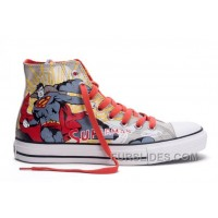 CONVERSE Chuck Taylor DC Comics Superman Red Grey Print High Tops All Star Canvas Shoes Lastest