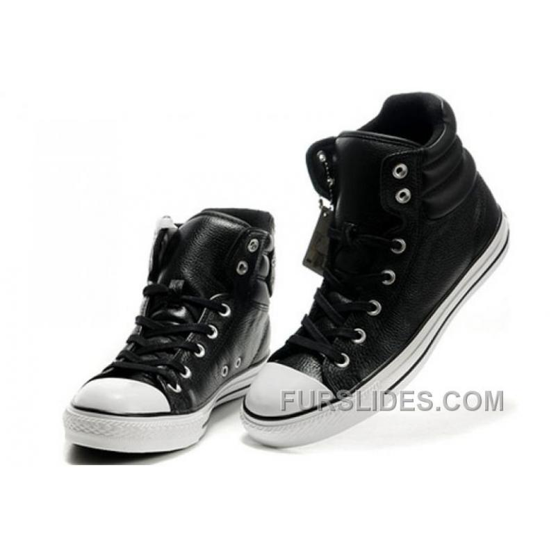 0a131f55101a65 USD  58.49  99.38. New Embroidery Black Leather CONVERSE Padded Collar  Chuck Taylor All Star Winter Boots ...