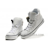 White Embroidery CONVERSE Padded Collar Chuck Taylor All Star Leather Winter Boots Online