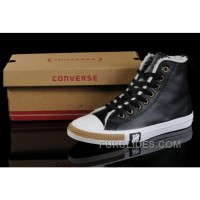 Black Soft Nap CONVERSE Winter All Star Shearling Leather Shoes Lastest