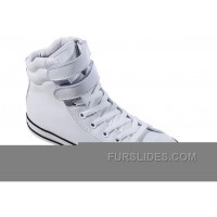 White Embroidery CONVERSE Padded Collar Chuck Taylor All Star Double Buckles Velcro Leather Winter Boots Cheap To Buy