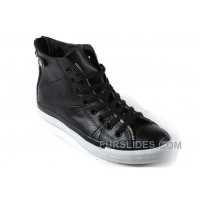 Black Leather CONVERSE Double Zipper John Varvatos Oxford Winter Chuck Taylor All Star High Ps Sneakers Cheap To Buy