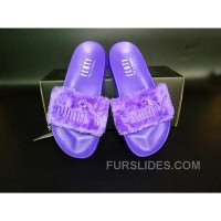 Authentic PUMA BY RIHANNA LEADCAT FENTY FUR SLIDE Purple NdZAe6