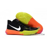 Girls Nike Kyrie 3 Black Colorful Volt Orange Pink Online