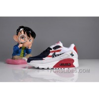 073 MAX 90 Nike Kids Air Max 90 American Flag White Blue Red Authentic