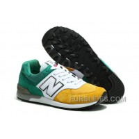 New Balance 576 Men White Green Yellow Online