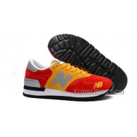 New Balance 990 Men Red Yeloow Discount