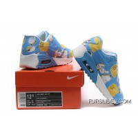 Nike AIR MAX 90 KID Hyperfuse White Blue Cheap To Buy