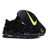 Free Shipping Cheap Nike Air More Uptempo Black/Black-Volt For Sale CCGSWYa