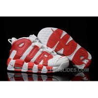 Nike Air More Uptempo White Red Mens And Girls For Sale Authentic PKKDQN4